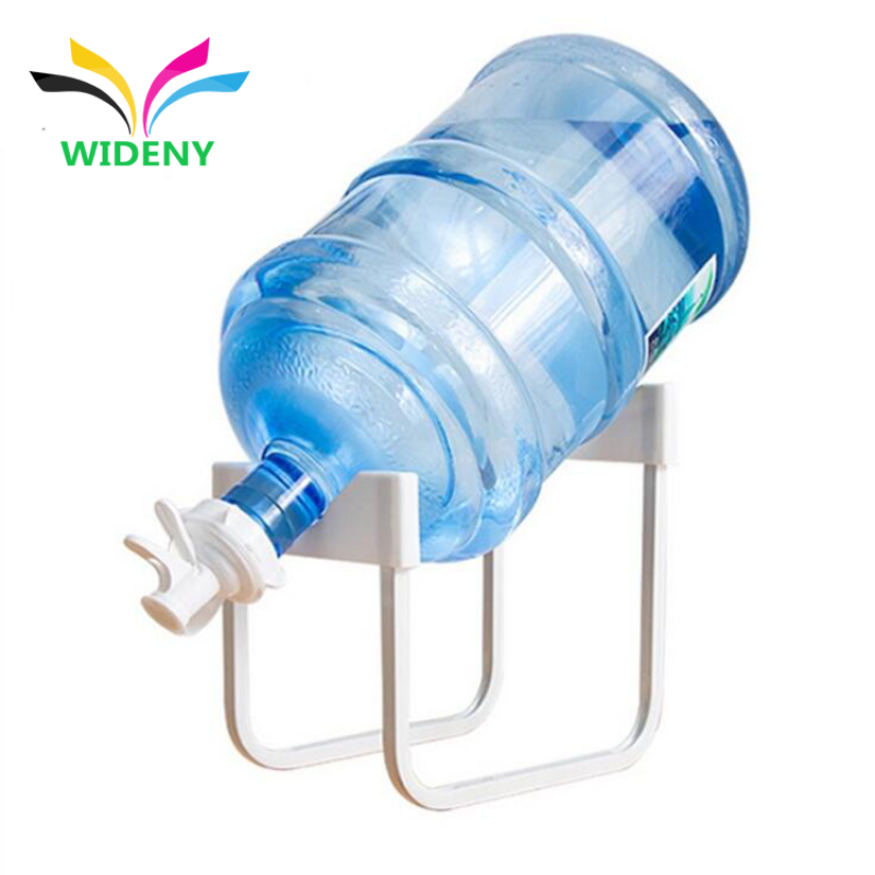 Customized Chrome Plated Simple Bucket Storage Metal Gallon Water Bottle Rack with Faucet
