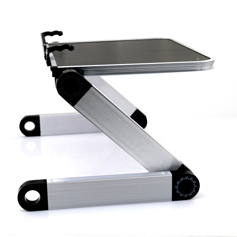 Home office Portable Adjustable Aluminum Ergonomic Folding Stand Laptop Table for bed