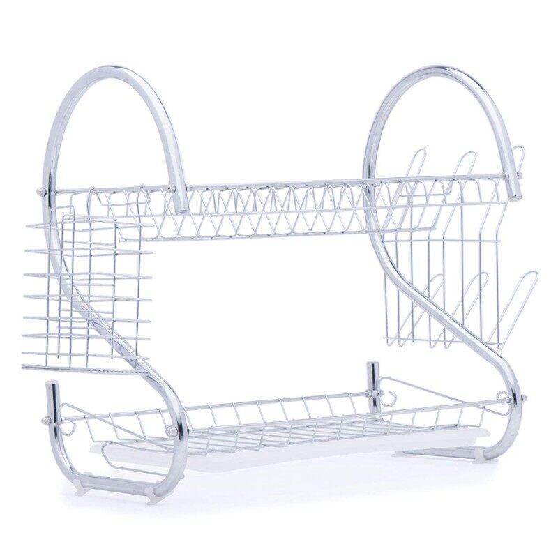 Custom Kitchen Storage 2 Tier Foldable Furniture Kitchen Dish Dryer Accessories Quality Iron Dish Racks