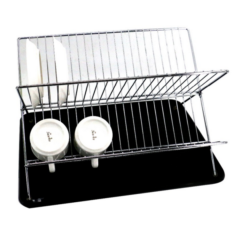 Kitchen storage rack Storable bowl drying racks metal wire Folding Dish Rack