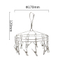 Clothes Drying Rack Round Multi-function Stainless Steel Rotating Cloth Hanger with 12 Clips