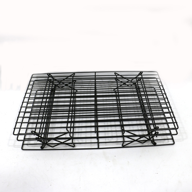 design hot sale rectangle Metal Wire Cake Bakery Bread Food Cookie Pan Grid Design Cooling Rack