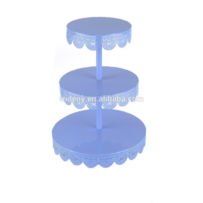 3 tier metal white cake stand afternoon tea cake stand
