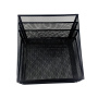Office supplies easy assemble folding metal 6 compartments colorful desk mesh file organizer for documents letter holder