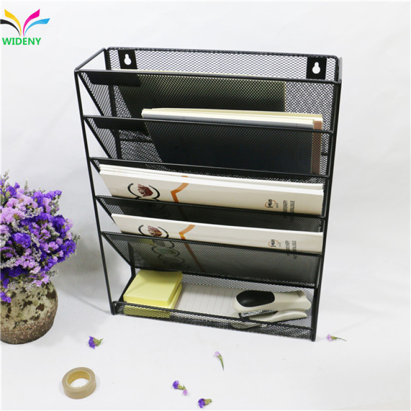 hot wall mounted metal file letter organizer tray file tray
