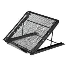 Easy Carry Laptop Stand, Foldable Holder Adjustable Height Metal Mesh Laptop Stand