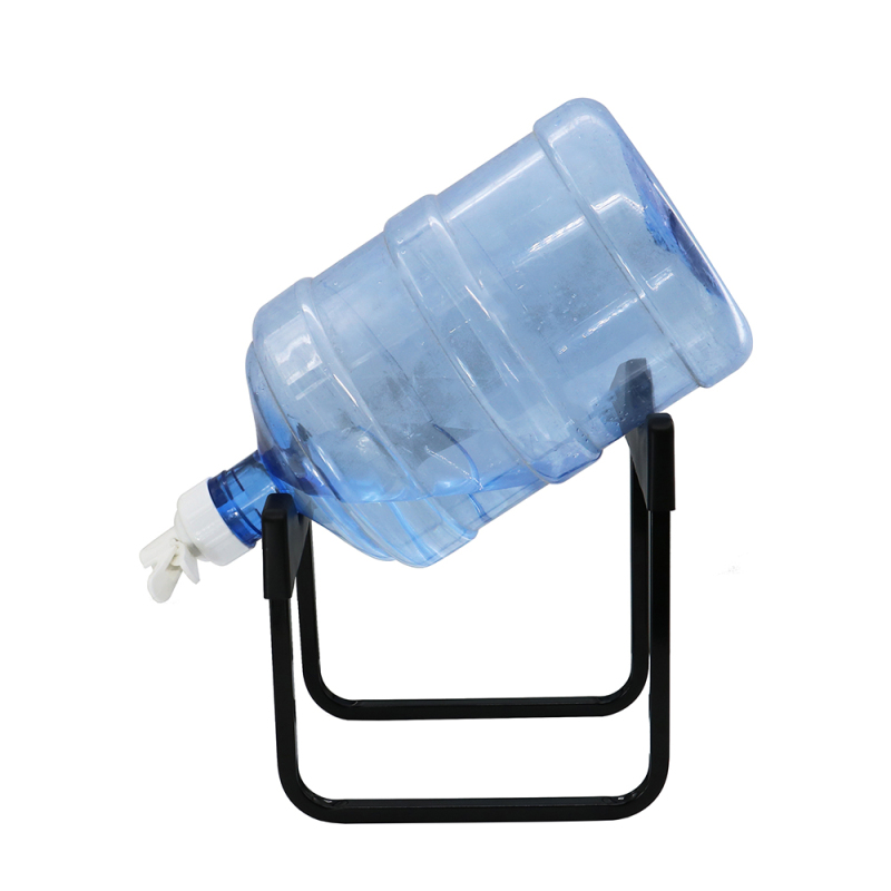 Home Office Organizer Desktop Water Cooler Bottle Storage Stand, 5 Gallon Water Bottle Stand with Dispenser Valve