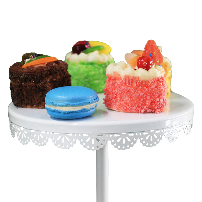 wholesale high quality wedding party kitchen white metal  2 tier round dessert cake stand