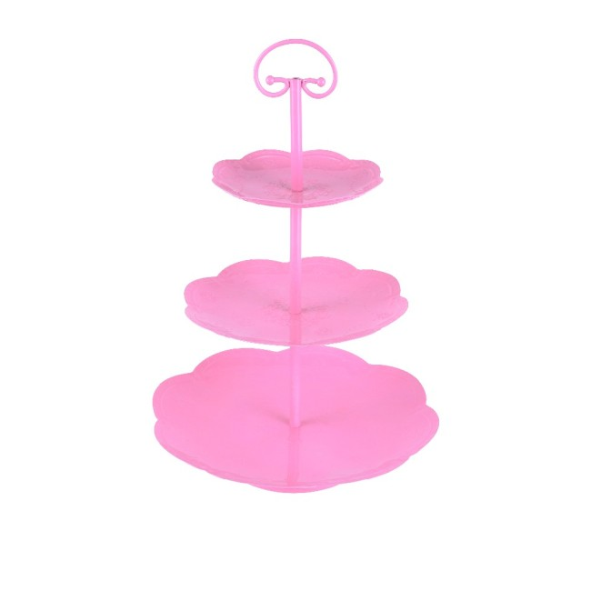 Sweejar 3 Tier Ceramic Cake Stand Wedding Dessert for Tea Party Serving Platter Cupcake Stand