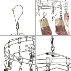 Wholesale Luxury Fashion Outside Round , Inside Square Windproof Cloth Hanger for Towel