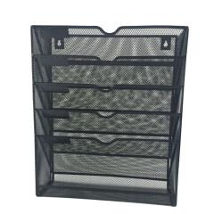 Office file magazine holder 6 tier metal mesh hanging  wall mounted file organizer