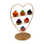 Wholesale Table Top 3 Tiers Metal Wire Detachable Wedding Gold Cupcake Stand For Holder Mini Cupcake