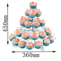 Wideny Iron metal Birthday Party plate colorful Rotating bread 3-tier gold wedding flower Silver cup cake stand