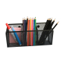 Wholesale Office School Stationery Supplies Three Space Wall-mounted Magnetic Metal Mesh Pen Holder