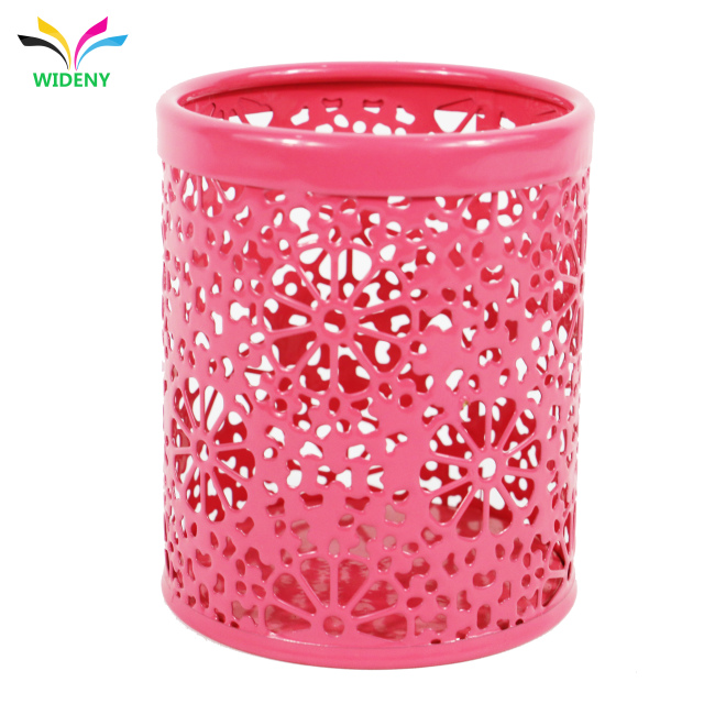 cup desktop organizer flower pattern Pencil Holder Office Stationery desk Storage pen container