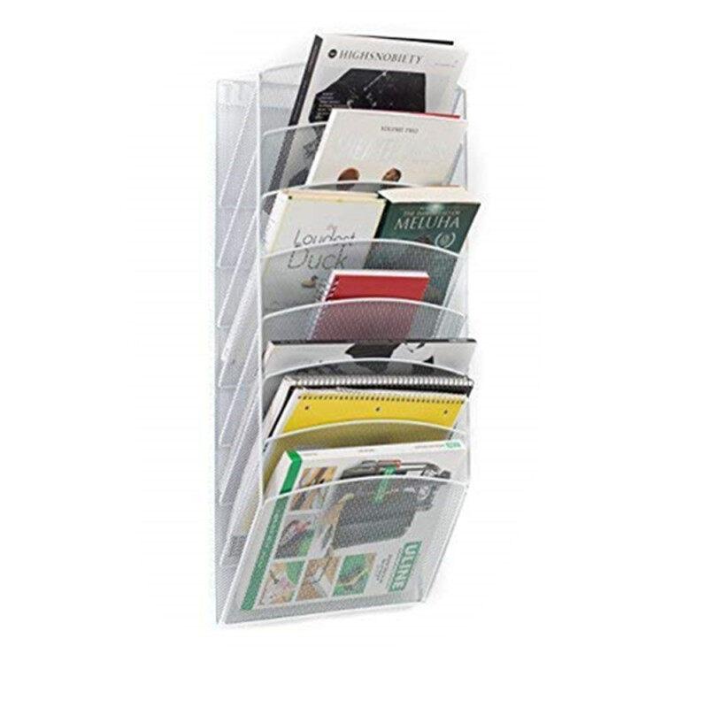OEM black Silver red color Iron metal vertical hanging folder wall file organizer