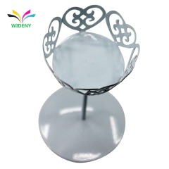 Wideny White Cinderella Carriage Metal Cake Stand with Single Cup Design