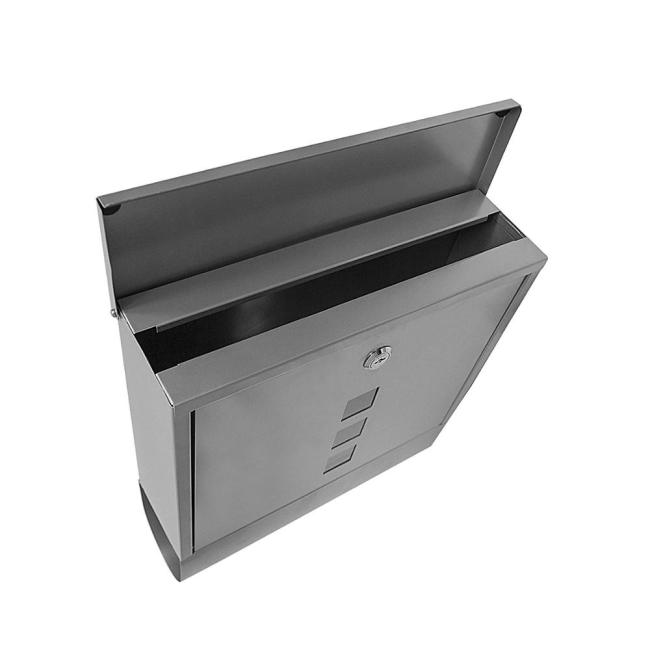Manufacture Direct Sale Apartment Stainless Steel Outdoor Parcel Wall Mounted Heavy Duty Design Mailbox