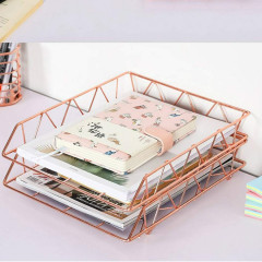 Wideny Rose Gold Desk Desktop Stationery Gift set Letter Holder Metal Document Organizer 3 pcs 4 pcs 5 pcs Office Sets