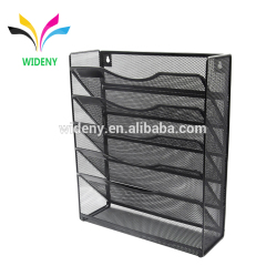 Wideny Office school home household storage wire metal mesh wall mount mounted hanging file organizer