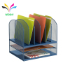 wholesale Multifunctional Office stationery desktop holder stand iron wire metal mesh desk organizer with drawer
