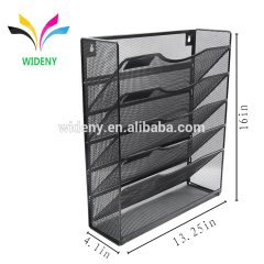 Wideny Office school household storage wire metal mesh wall mount mounted hanging file organizer for office holder