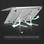 Best Popular Aluminium  Portable Foldable Adjustable Laptop Stand for Bed and Sofa at home office as desk table