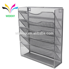Wideny Office school home household storage wire metal mesh wall mount mounted document hanging file organizer for stationery