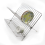Newest Amazon 2-Tiers Chrome Plated Kitchen Holder With Removable Utensil Hanging Fruit Food Knife Dish Drying Rack