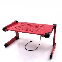 Wholesale Portable Vertical Aluminum folding laptop cooler desk with USB cooling fans