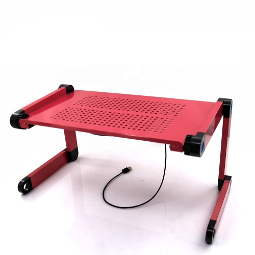 Wholesale Portable Vertical Aluminum folding laptop cooler desk with USB cooling fans