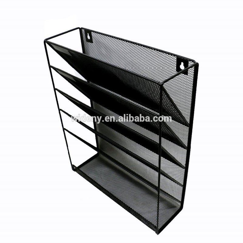 Wideny Office school home household storage wire metal mesh wall mount mounted hanging file organizer for office holder
