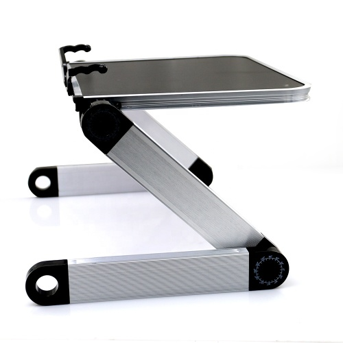 Home use Adjustable Ergonomic Lightweight Aluminum  Laptop Stand with Page Paper Clips
