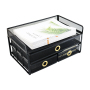 New Design High Quality Office black Metal Mesh Desk Organizer File Tray with Three Sliding Drawers