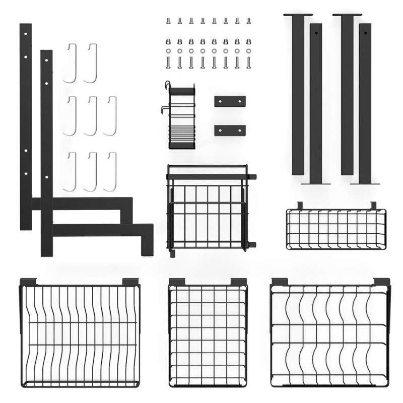 2 Layer Black 85CM 304 Stainless Steel Drainning Storage Dish rack for kitchen dish Organizer
