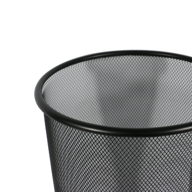 Wholesale High Quality Metal Outdoor Office Mini Wall Mount Collapsible Novelty Black Waste Bin Trash Can