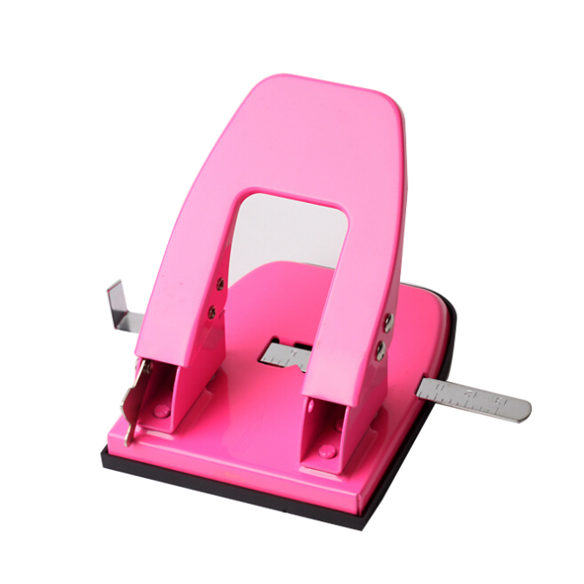 Metal 12 sheets animation paper puncher 6mm double hole punch paper hole punch machine