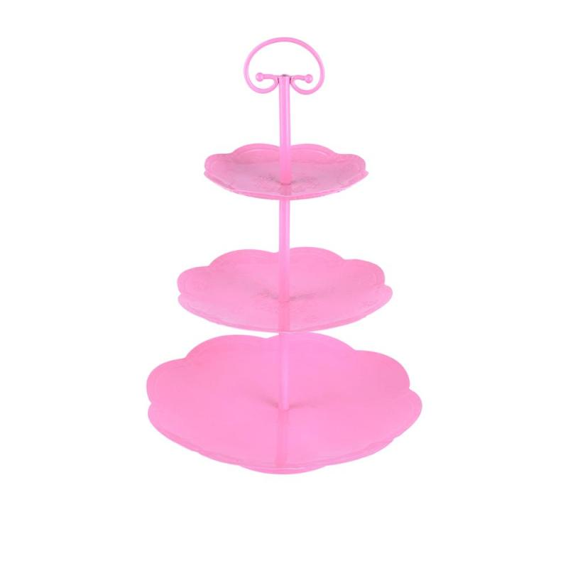 Wideny metal iron wire round birthday party gold tower cupcake cup cake stand