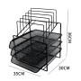 Amazon Hot-sale Wideny Office mesh metal black 3 layer removable desktop file holder