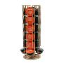 Rose Gold Metal Revolving Coffee pod Holder Capsule Rack for Dolce Gusto