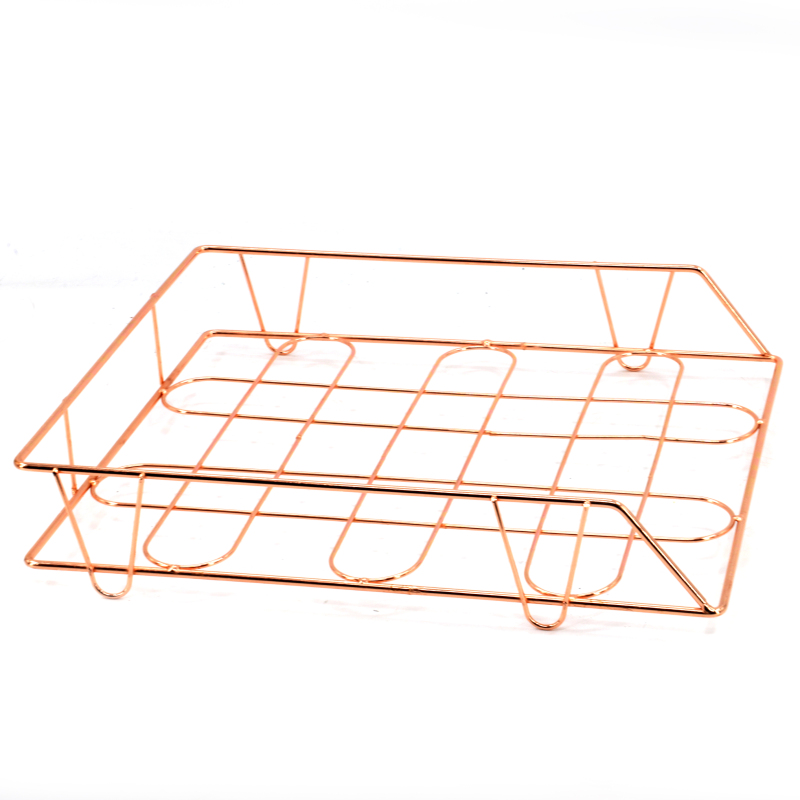 New design office gold metal wire desk storage file organizer for with paper