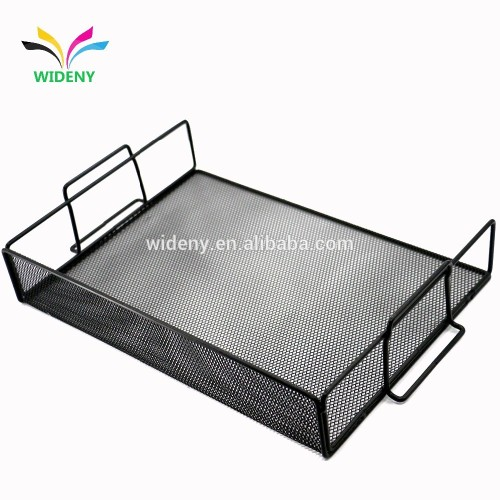 WIDENY Household office home metal mesh desk desktop table file organizer metal for document