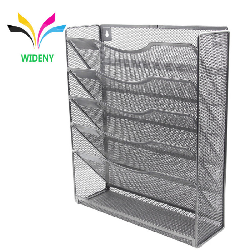 Amazon Hot Sale Home Office Table Desktop Metal Wire Mesh Wall Mounted Hanging File Organizer for Storage document letter paper