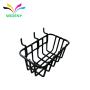 Customized powder coating wrought iron wire pegboard hanging basket