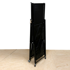 Wholesale Supply Home Black iron Metal Wire 3 Tiers Folding Kitchen Corner Storage Shelf For Storage Kitchenware