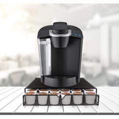 Wideny large capacity coffee pod storage drawer home cafe supply decoration metal mesh 36 coffee capsule holder