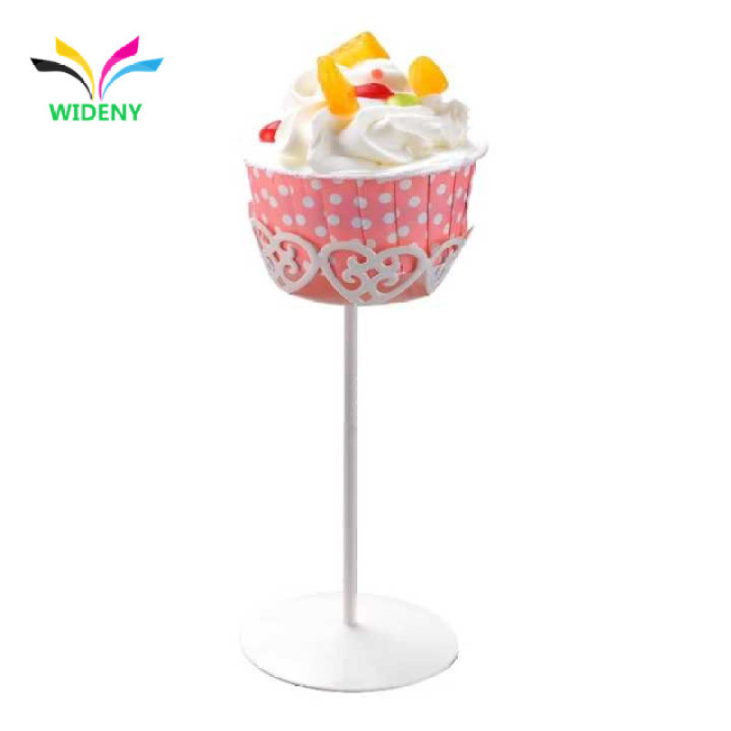 Mini cake stand fancy metal wire single cupcake stand