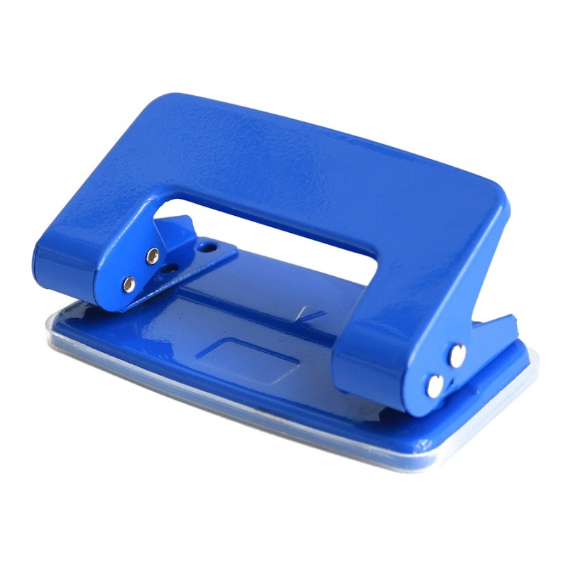 Custom Made Hand Held 2mm and 4mm bule Paper Cardboard Industrial Square Sheet Hole Punch for Binding Notebook