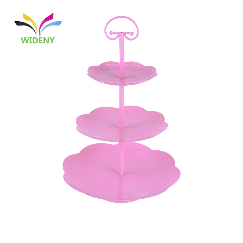wholesale 3 tier afternoon tea rotating wedding gold cup cake stand