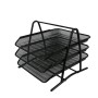 Office Supplies Desk Organizer 2 3 4 5 Trays black Metal Mesh File Organizer for Document Holders